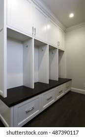 Custom Mudroom Built in coat rack