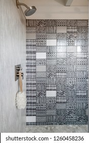 Custom Tile Work in Modern Bathroom