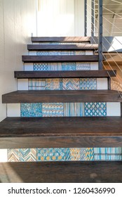 Custom Tile Work On Staircase