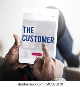 Customer Communication Phone Icon Concept