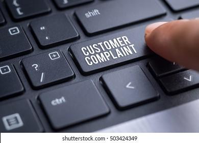 Customer complaint, business concept.