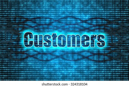 Customer concept,unlock code to success