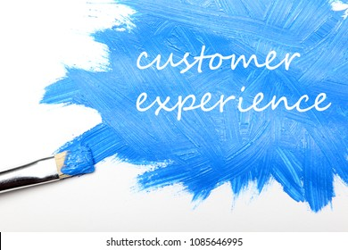 Customer experience business concept with customer experience sign