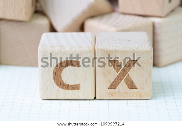 Customer Experience concept, cube wooden block with alphabet CX, important of user centric in recent world business, product and service.