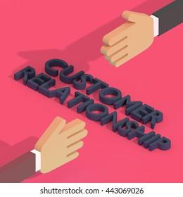 Customer Relationship Management - 3D Illustration