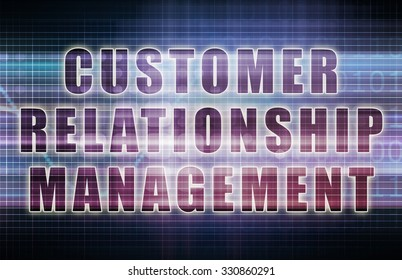Customer Relationship Management or CRM on a Business Chart