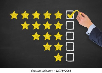 Customer Satisfaction Concepts on Black Background