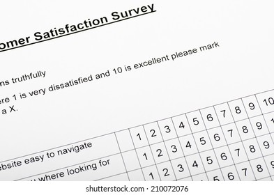 Customer Satisfaction Feedback Part of a customer satisfaction survey, often filled in at end of courses or after shopping on line