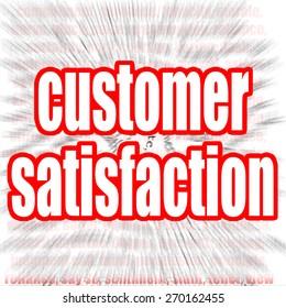 Customer satisfaction word