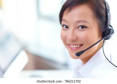 customer service businesswoman working portrait