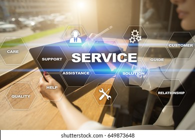 Customer service and relationship concept.