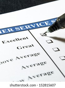 customer service survey check list with tick box