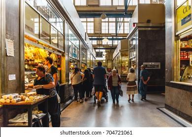 customers shopping in Melbourne Victoria queen s market,2017,Australia