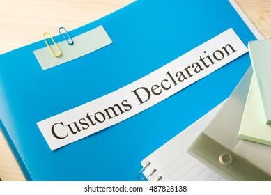 customs declaration