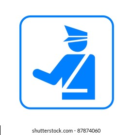 Customs-Police  sign