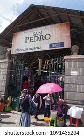 Cusuco Peru - 11 May 2018 - San Pedro Market is biggest market in Cusuco Peru. Many tourist and local people enjoy shopping there.