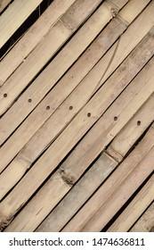 cut bamboo tied to make plank walk