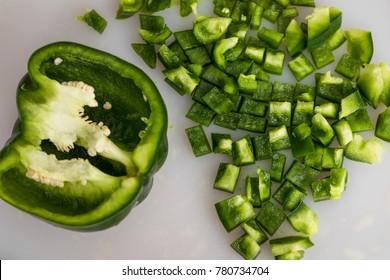 cut bell pepper