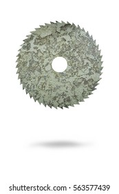 cut diamond disc on a white background crushed texture