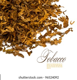 Cut and dried different sorts (kinds) tobacco leaves.