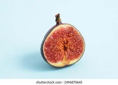 cut figs on a blue background