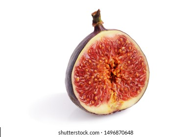 cut figs on a white background