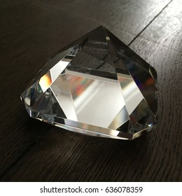 Cut glass prism paper weight