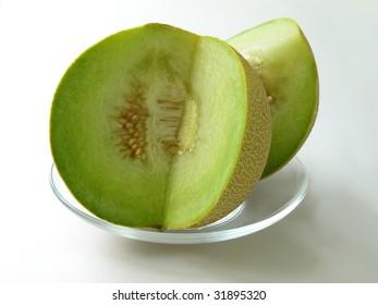 cut golden melon