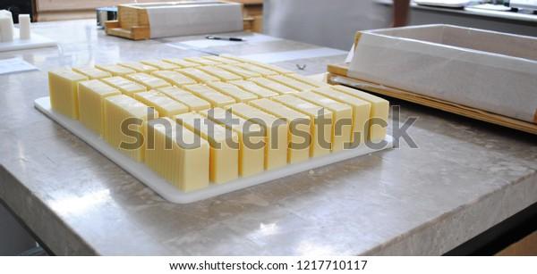Cut Handmade Soap Making Handmade Soap Stock Photo (Edit Now