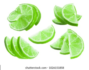 cut lime in a variety of designs