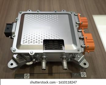 Cut model of inverter for EV