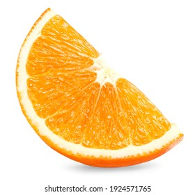 cut of orange isolated on white background. healthy food. clipping path