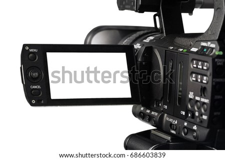 Cut Out HD Video Camera and Viewfinder