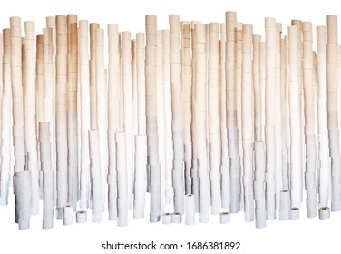 cut out of lots of toilet roll all stack up to make a wall