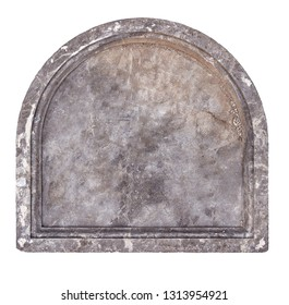 cut out of old stone plaque or grave headstone