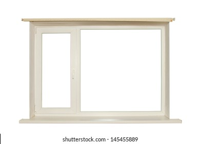 cut out window on white background