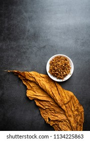 Cut tobacco and tobacco leaves