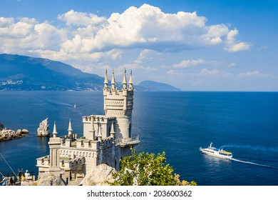 Cut-away of the South Coast of Crimea Yalta, Swallow's Nest Castle