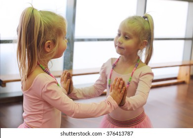 Cute 5 years old ballerina