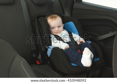 Cute 6 Months Old Baby Car Stock Photo Edit Now 410948092