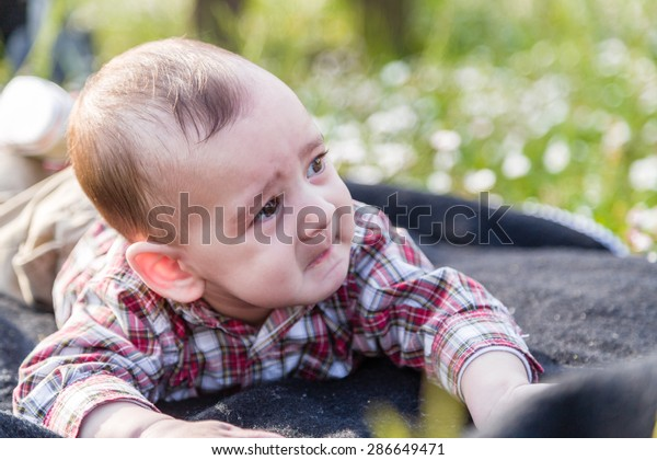 Cute 6 Months Old Baby Light Stock Photo Edit Now 286649471