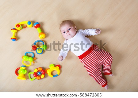Cute Adorable 2 Month Old Baby Stock Photo Edit Now 588472805