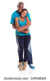 cute african couple isolated on white background