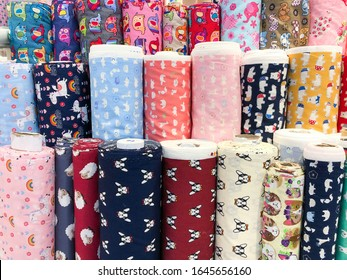 Cute animal print fabric unicorn dog elephant fabric at textile factory cloth shop with many roll of fabrics colorful summer for kids shade garment supplier diy material for craft handmade clothing