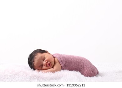 Cute asian baby are sleeping. newborn