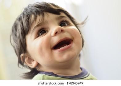 Cute baby boy portrait
