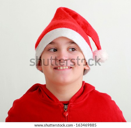 728fa237bd8 Cute Baby Boy Wearing Christmas Cap Stock Photo (Edit Now) 163469885 ...