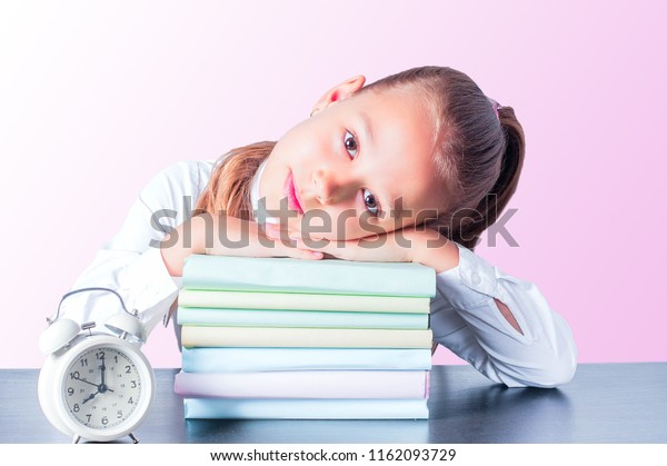 Cute Baby Doing Homework Reading Book Stock Photo Edit Now