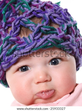 55236ebbe88 Cute Baby Hat Pouting Stock Photo (Edit Now) 25933327 - Shutterstock