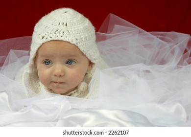 Cute baby with white hat
